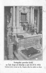Provala i oskvrnuće Gospine slike i oltara - 1094. godine